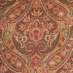 4+ yards Elaborate Yet Sophisticated Victorian Italian Made Tuscan Tapestry Upholstery Fabric