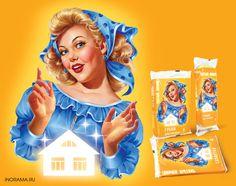 Персонажи для рекламных материалов, упаковки и этикетки.