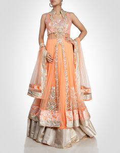 in is an Online Designer Store for Women that offers Exclusive Designer wear from Top Indian Desginers Anarkali Lehenga, Saree, Floor Length Anarkali, Lahenga, Designer Wear, Favorite Color, Indian, Elegant, Stylish
