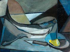 Youla Chapoval - 1919-1951 - Peintre de la 2ème École de Paris | Les débuts de Youla Chapoval : figuration & paysage - Early painting of the russian painter Youla Chapoval