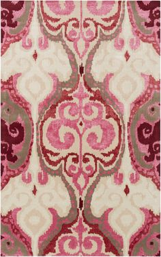 Buy the Surya Pink Direct. Shop for the Surya Pink Banshee x Rectangle Wool Hand Tufted Eclectic Area Rug and save. Motif Ikat, Ikat Pattern, Textiles, Clearance Rugs, Home And Deco, Carpet Design, Pink Rug, Decoration, Crafts