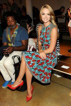 Lindsay Ellingson Fashion model Lindsay Ellingson attends the Sophie Theallet fashion show during MADE Fashion Week Spring 2014 at Milk Stud...