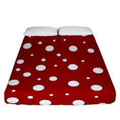 Mushroom pattern, red and white dots, circles theme Fitted Sheet (Queen Size) Bed Sizes, Queen Size, Creative Design, Circles, Duvet Covers, Red And White, Pillow Cases, Bedding, Stuffed Mushrooms