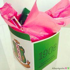 Alpha Kappa Alpha Gift Box #followprettypearlsinc AKA 1908