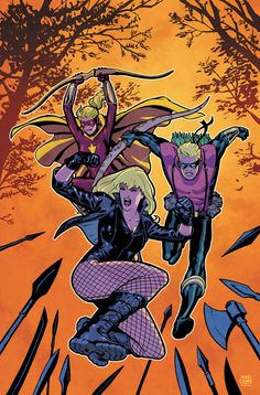 Black Canary, Green Arrow & Speedy by Cliff Chiang