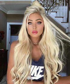 1 bundle straight bleach blonde raw hair hair and beauty красивый Bleach Blonde, Blonde Wig, Blonde Beauty, Hair Beauty, Lace Hair, Platinum Blonde, Beige Blonde, Hot Blondes, Blonde Highlights