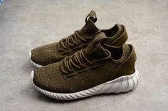 wholesale dealer cc61c 5e03c Mens adidas Tubular Doom Sock PK Trace Olive White Night Cargo CQ0683  Shoes-2 Adidas