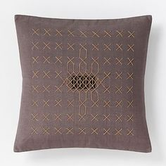 Carla Peters Stitched Allover Horn Pillow Cover #westelm