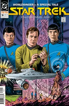 Cover art by Jerome K Moore. New colour by Scott Dutton with Marvel Comics cover formatting. Turner Classic Movies, Classic Films, Star Trek Books, Character Design Animation, New Star, Comic Book Covers, Comic Books, New Artists, Cover Art