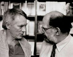 Michael McClure & Allen Ginsberg. Photo by John Murao