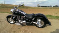 Suzuki Intruder VL1500LC with some of the chrome blacked out, smoothed rear fender also..