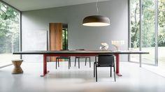 Lema furniture, dining room, glass