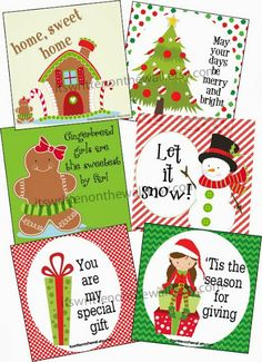 Our lunchbox notes for the month of December are only 16 cents a piece. There are 30 Christmas themed notes in the collection  sc 1 st  Pinterest & Lunchbox Notes for December-Use as Gift Tags too. Christmas ... Aboutintivar.Com