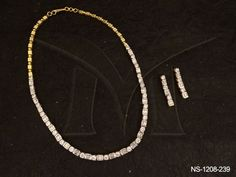 NS-1208-239 | ROUND SQUARE STONES CLOSE ATTACHED AD NECKLACE SET