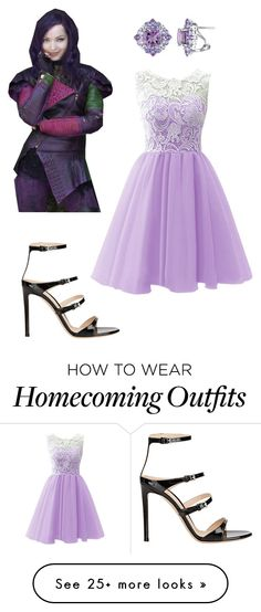 """""""Mal inspired homecoming/prom outfit"""" by hesterfamily on Polyvore featuring Gianvito Rossi"""