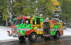 Portraits of Hope: Aspen Volunteer Fire Department - Fire Truck --  Engine 6. A Garden in Transit. www.portraitsofhope.org