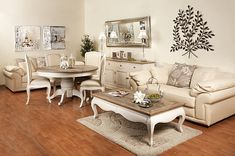 antique white wood distressed painted coffee table- love this look for a bedroom