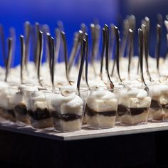 almond pound cake with espresso creme cake shooter. photo by Nathaniel Edmunds Photography. Tribute at The Indiana State Museum. Great Desserts, Party Desserts, Cake Shooters, Almond Pound Cakes, Indiana State, Anniversary Parties, Tea Time, Espresso, Catering