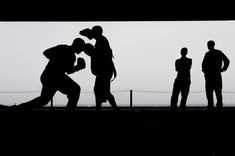 Boxing, Training, Workout, Silhouettes, Exercise