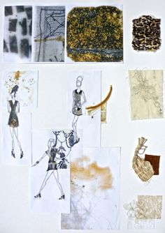 Hidden Nottingham Project: Textiles and Illustration. Portfolio Boards. Bethany Cooper.
