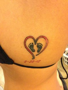 """Miscarriage memorial tattoo---check it out on my blog/site """"I am Refusing to Sink"""" about miscarriage, infertility, and hip surgeries"""