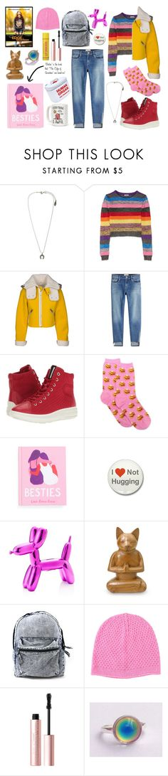 """""""The Edge of Seventeen Inspired Outfit"""" by fossemuffins ❤ liked on Polyvore featuring Miu Miu, Frame, ECCO, HOT SOX, NOVICA, Lowie and Too Faced Cosmetics"""