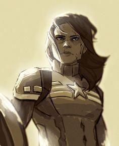 Peggy Captain America fanart by romans-art