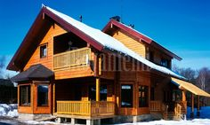 """Rovaniemi log house from Finland: model """"Lapland"""" wooden home. Finland"""