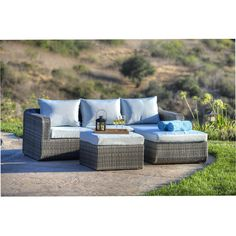 3-Piece Lucy Seating Group - All-Weather Wicker on Joss & Main