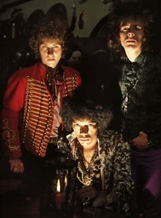 Jimi Hendrix Experience looking menacing