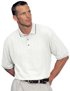 Variegated Ribbon Pique Knit Golf Shirt,  Tri mountain 288 #GolfShirt #Trimountain  #feelsgood