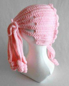 Ponytail Hat.  Cute!  Crochet pattern is $3.99 on Maggie's Crochet.