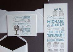 lovebirds invitation. thomas-printers.