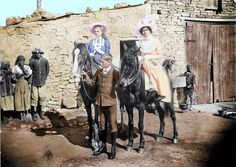 Boer ladies on horses (Coloured in by Johan Lombaard, and photo by Nico Moolman) Black White Photos, Black And White, Safari, Innocent Child, History Classroom, History Projects, African History, Cute Images, Military History