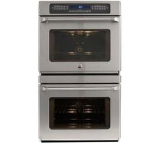 GE Cafe 30 in. Double Electric Wall Oven Self-Cleaning with Convection in Stainless Steel