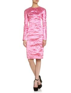 Pink Metallic Taffeta Dress | Carven | Avenue32