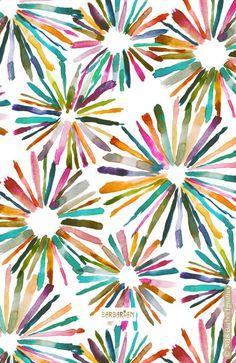 FUN BURSTS Colorful Geometric – BARBARIAN by Barbra Ignatiev   Bold colorful art