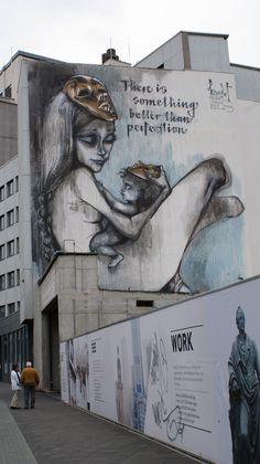 Superschöne Streetart, nicht weit von der Innenstadt in Frankfurt entfernt. #meinffm #herakut
