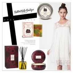 """""""Knitted Belle Boutique 11."""" by selmir ❤ liked on Polyvore featuring Voluspa, Three Sisters Apothecary and knittedbelleboutique"""