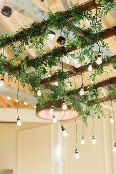 Cavallo Point Wedding / Riley Loves Lulu / Kayla F Photography / Flora Grubb Deco Restaurant, Restaurant Design, Cafe Interior Design, Cafe Design, Ceiling Decor, Ceiling Design, Plant Wall, Plant Decor, Hanging Plants