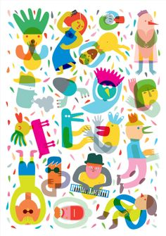 The new Party Collection series of prints by Judy Kaufman is certainly aptly named. The series of four prints features a collection of weird, colorful characters, designed around the theme of enjoying life.