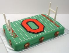 Ohio State Buckeyes Cake For A Birthday Is Decorated To Look