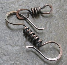 Large Metalwork Spiral S Clasp,16ga Antiqued Copper, Hammered (2pcs). $7.95, via Etsy.