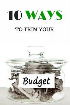 10 ways to trim your #budget