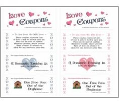 Super corny but Love Coupons because they can be personalized to what the other one might want/like/need :)