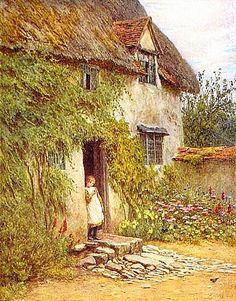 painting of cozy cottage | Beautiful Cozy English Country Cottages and Gardens Free Images for ...