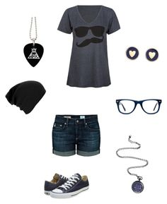 """""""Simplicity"""" by rainbowchanrawr on Polyvore featuring AG Adriano Goldschmied, Volcom, Converse, Brooks Brothers and Muse"""