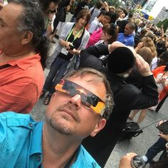 Happening!  @ny_now #eclipse2017 #eclipse #eclipsenyc2017 #sun #moon