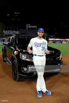 Eric Hosmer, KC, ASG MVP with the truck he won//July 12,2016 ASG at SD