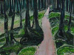 "Saatchi Art Artist Yukari Kaihori; Painting, ""Into the Woods"" #art"